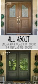 How To Replace Exterior Door Install And Enlarge Glass In Exterior Doors Or Replace Exterior