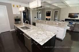 white kitchen cabinets with river white granite white granite countertops in st louis arch city