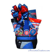 chicago gift baskets go cubbies chicago cubs gift basket