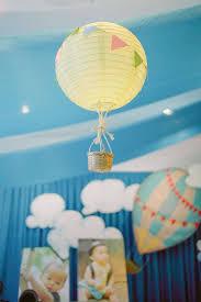 hot air balloon centerpiece kara s party ideas mickey mouse hot air balloon birthday party
