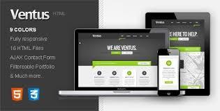 free responsive html templates ventus responsive html template by moonbear themeforest
