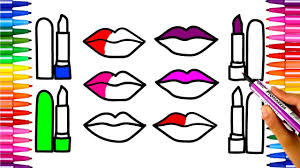 how to draw lipstick coloring pages for kids art colors for