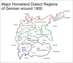 map of regions of germany major dialect map germany 75 jpg