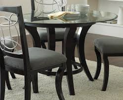 black round dining table set pandora 5 pc dinette gallery for round glass dining table with