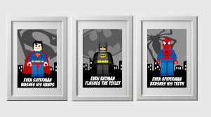 Super Hero Bathroom Set Superhero Bathroom Prints Instant Download Set Of 3 High