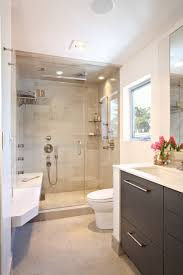 contemporary small luxury bathroom design with pact size shower