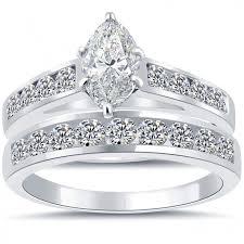 3 08 ct g vs2 marquise engagement ring u0026 wedding band