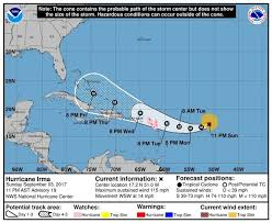 hurricane irma 2017 hurricane watches issued for islands as