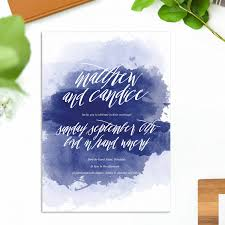 wedding invitations adelaide navy blue watercolour wedding invitations sail and swan