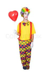 clown balloon sad clown with balloon isolated stock photo colourbox