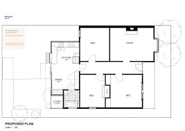 Timber Floor Plan cheerful rear addition to melbourne home in white timber and copper