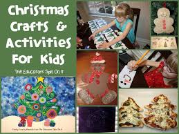 christmas art activities for kids footprint canvas craft kid ideas