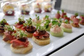 house canape assortment of canapes rock n roll canapes