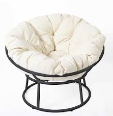 black wrought iron frame papasan chair target with white cushions