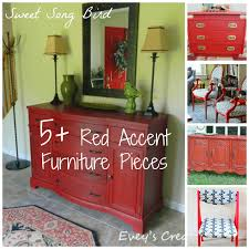 evey u0027s creations 5 diy red accent furniture pieces