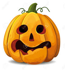 scared halloween pumpkin royalty free cliparts vectors and stock