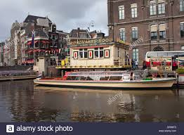 passenger tour boat ready for canal cruises at rondvaart koou