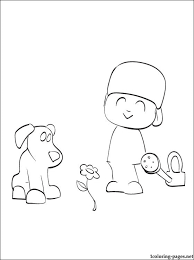 pocoyo loula coloring coloring pages