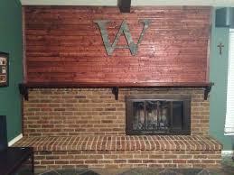 diy stain fireplace brick wilker do u0027s