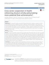 cross sector cooperation in health enhancing physical activity