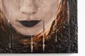 artwork on wood soul crush 40x40x3cm unique portrait artwo artfinder