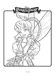 tinkerbell pirate fairy colouring 1