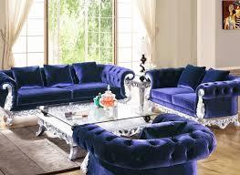 sofa blue tufted sofa lovely u201a endearing blue leather tufted sofa