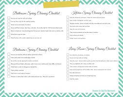 lazy u0027s spring cleaning checklist free printable