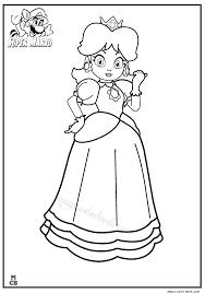 princess super mario coloring pages