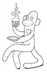 sock monkey coloring pages bltidm