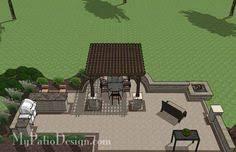Creative Brick Patio Design With Pergola Tub Seat Walls And by Creative Brick Patio Design With Pergola And Tub