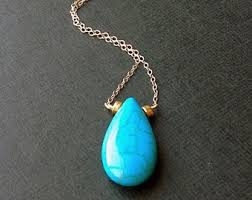 turquoise gem necklace images Turquoise necklace etsy jpg