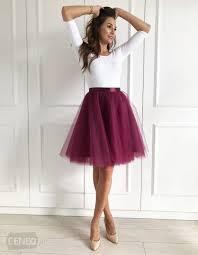 spodnica tiulowa spódnica tiulowa z paskiem wine ceny i opinie ceneo pl