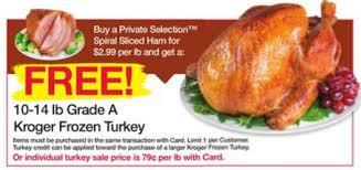 free turkey wyb spiral ham at kroger kroger couponing