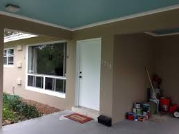front entry concrete patio paint color