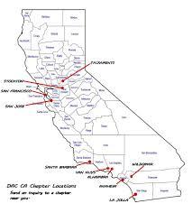Cal Map California State Sociey Dac California Map