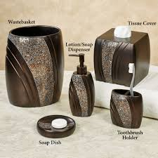 bathroom accessory sets touch class grandeur mosaic bronze bath accessories