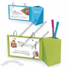 plastic pen holder desk calendar desk calendars china wholesale