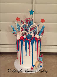 birthday u0026 4th of july drip cake on cake central cheryl u0027s