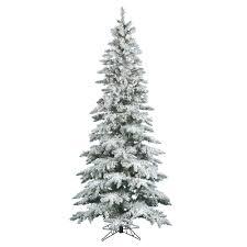 warm white 7 5 ft pre lit flocked slim utica fir artificial