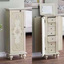 free standing jewellery armoire uk locking jewelry armoires free standing cherry inside armoire