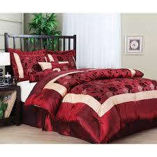 Red Gold Comforter Sets Angela 7 Piece Comforter Set Burgundy Multicolor Comforter And