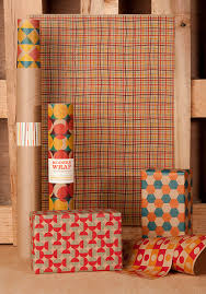 mid century modern wrapping paper 12 sheets
