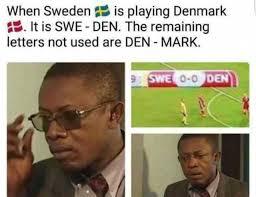 Denmark Meme - dopl3r com memes when sweden is playing denmark it is swe den