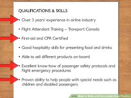 how to write a cv for a cabin crew position with pictures