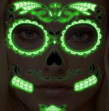 glow in the dark l glow in the dark face mask tattoo tattooforaweek temporary tattoos