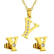 lettre en acier online get cheap boucles d u0026 39 oreilles lettres y aliexpress com