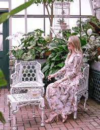 botanical gardens and a floral dress visions of vogue