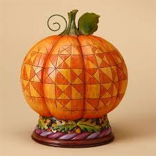 heartwood creek pilgrim harvest pumpkin diorama figurine by jim