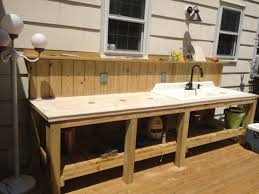 Outdoor Sink Ideas Kitchen Outdoor Sink Station Within Incredible For 23 With